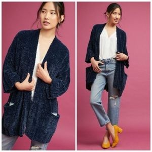 Anthropologie | Moth Navy Chenille Cardigan